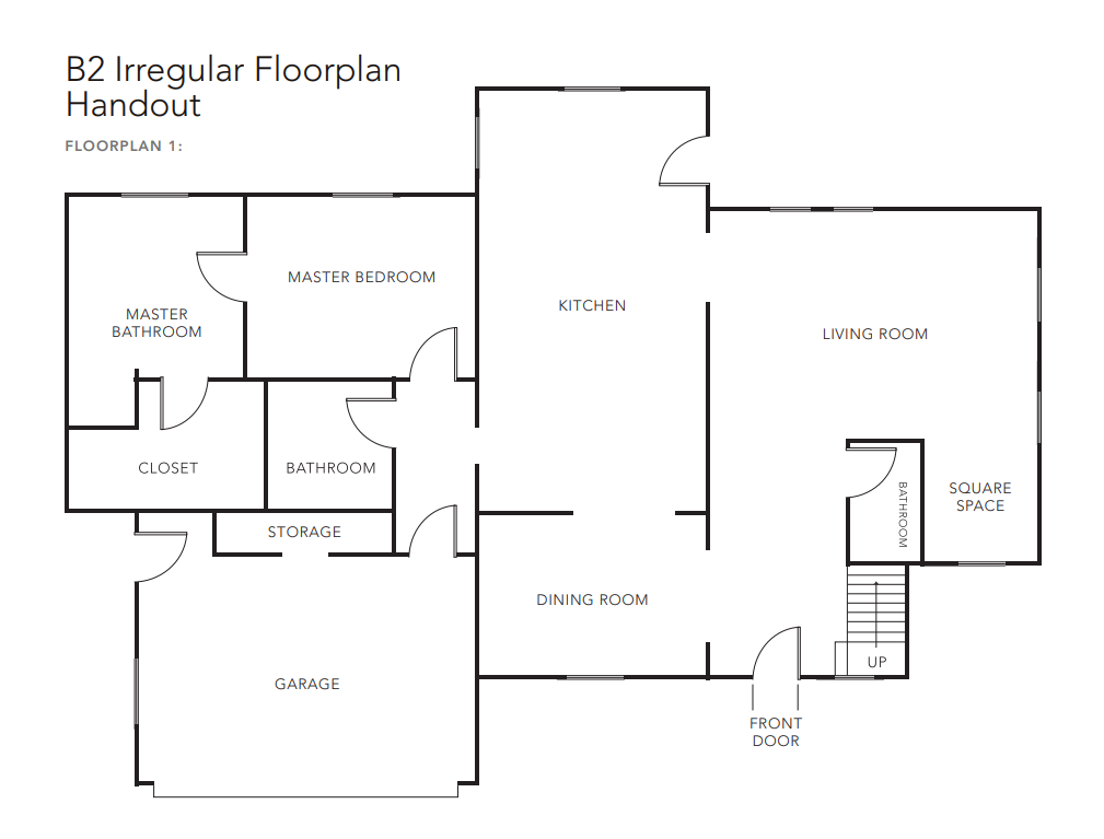 Feng Shui B2 Irregular Floor Plan 1
