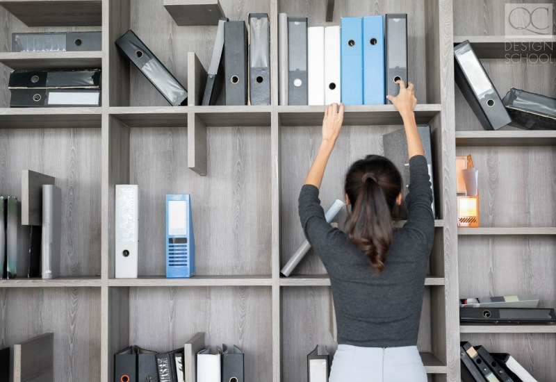 filing binders in order professionally organized office