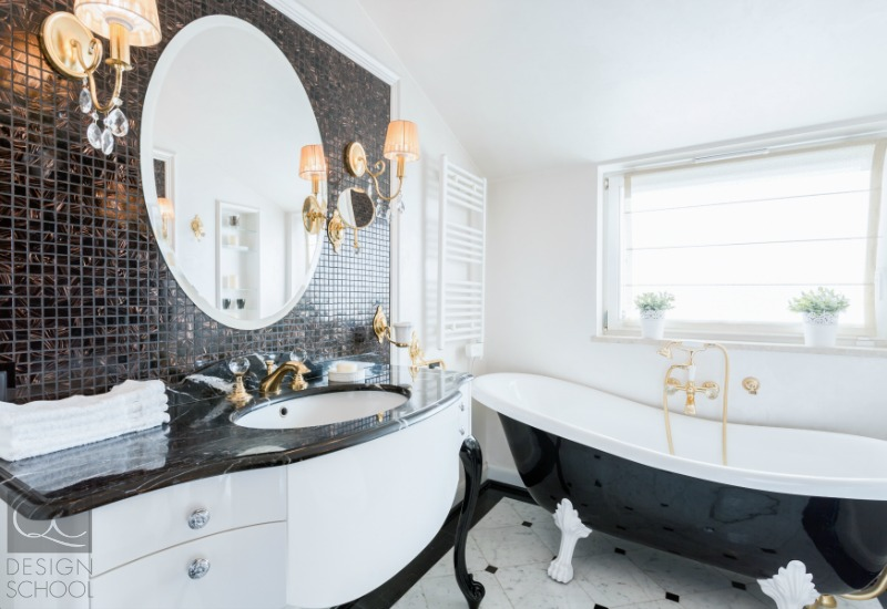 black and white luxury bathroom