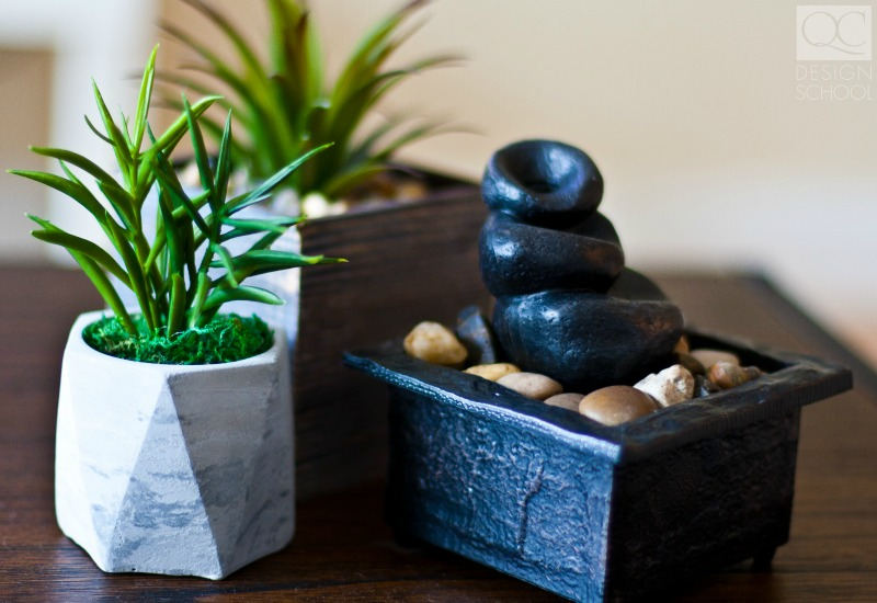 feng shui relaxing plants and stones for home decor