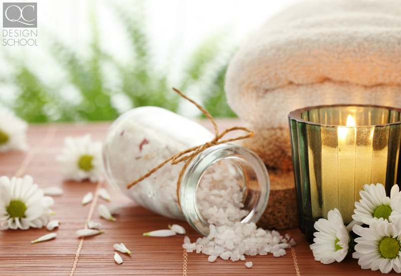 relaxing scents using candles as home decor to create spa environment at home