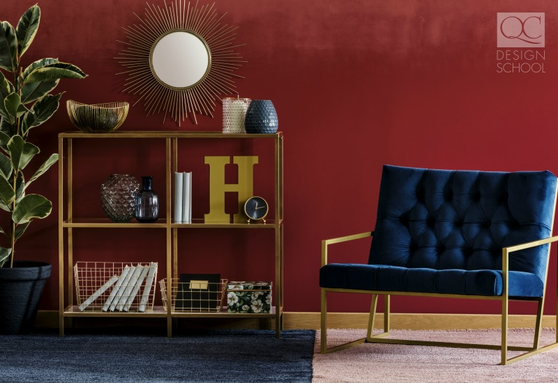 maximalist design in jewel tones