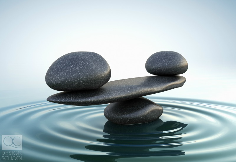 balancing rocks for feng shui design