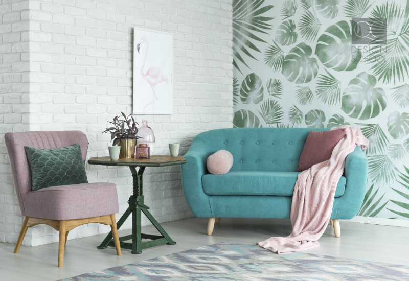 home staging wallpaper and mood for a room