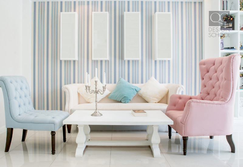 home staging patterned and textured wallpaper