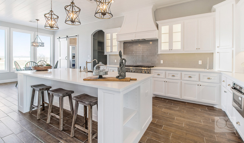 modern kitchen home staging tricks
