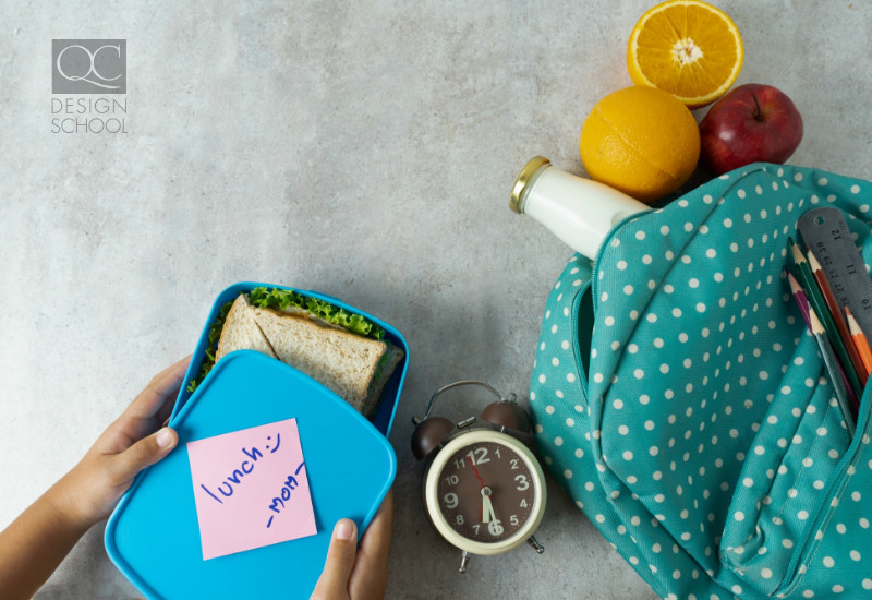packing a lunch as a mom can help you save time when starting your interior decorating business