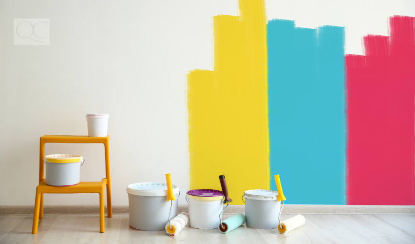 experimental colors painting walls when working with creative and open clients as a color consultant