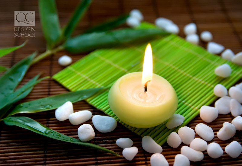candle light is a great way to introduce the elements into a home for feng shui