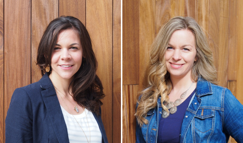 Lindsay Blashill and Meghan Randall of Tilly + Bridge are both QC design school graduates