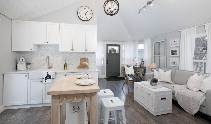 open concept home staging by Skye Cecilia