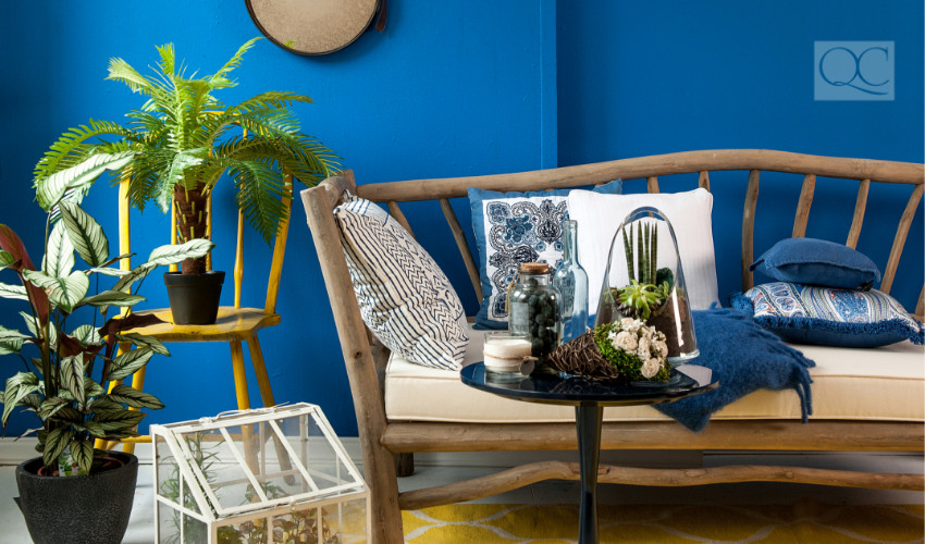 tropical relaxed living space color expert