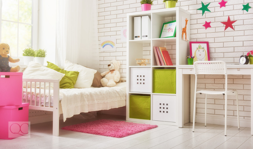 little girls bedroom professional organizer job by a color expert