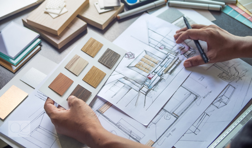 interior design plan with color consulting
