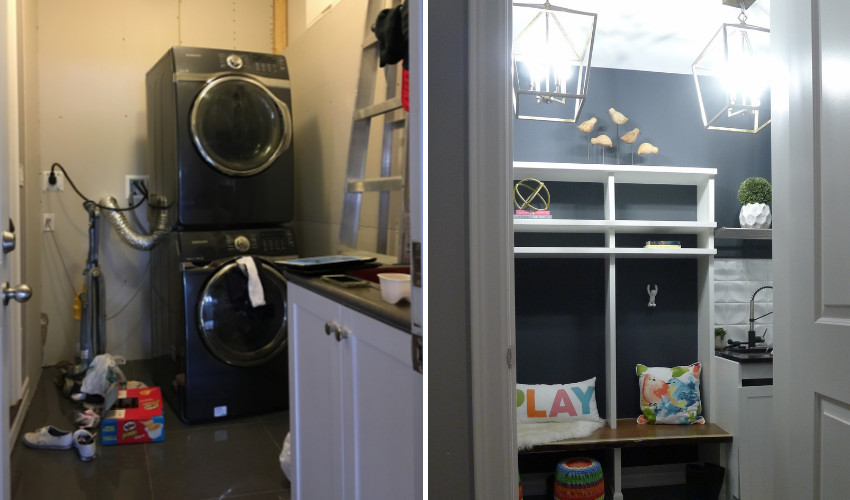 Lianne Cousvis design for home - laundry room makeover
