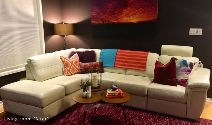 living room makeover by Lianne Cousvis