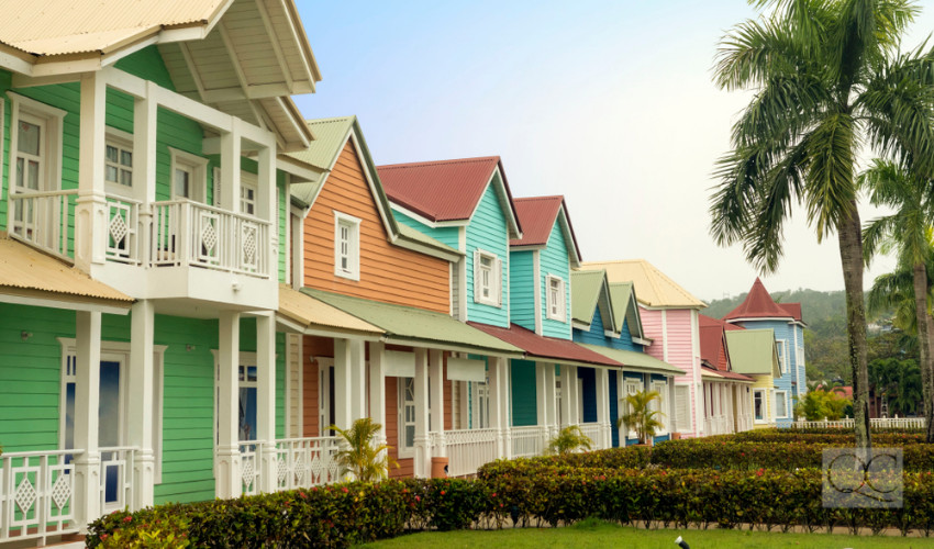 colorful exteriors of homes