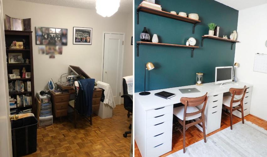 Office Desk makeover by Amanda Iacobellis