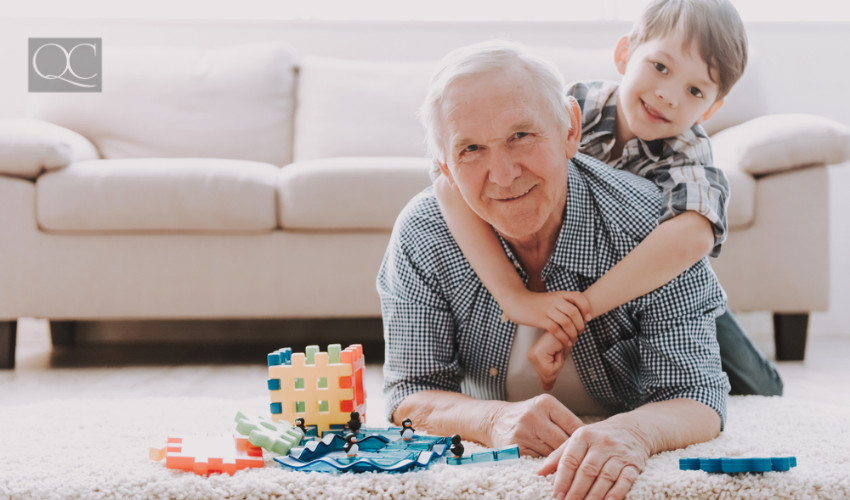 grandpa with grandson aging in place design