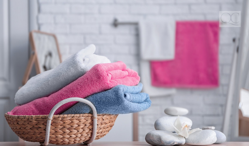 colorful towel decorating accessory