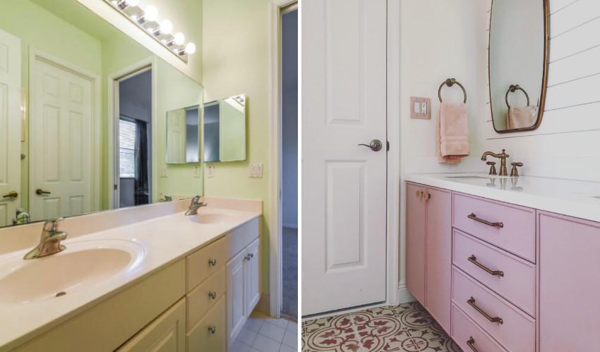 bathroom transformation interior decorating by Laura Kelly