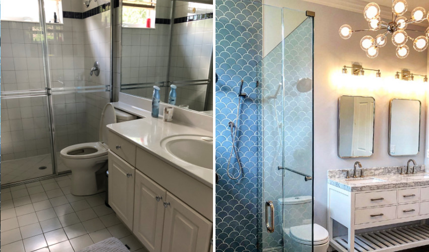 Laura Sells Palm Beach - Interior Decorating and Redesign of a bathroom