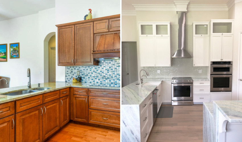 Kitchen renovation by Laura Kelly - home staging certification graduate