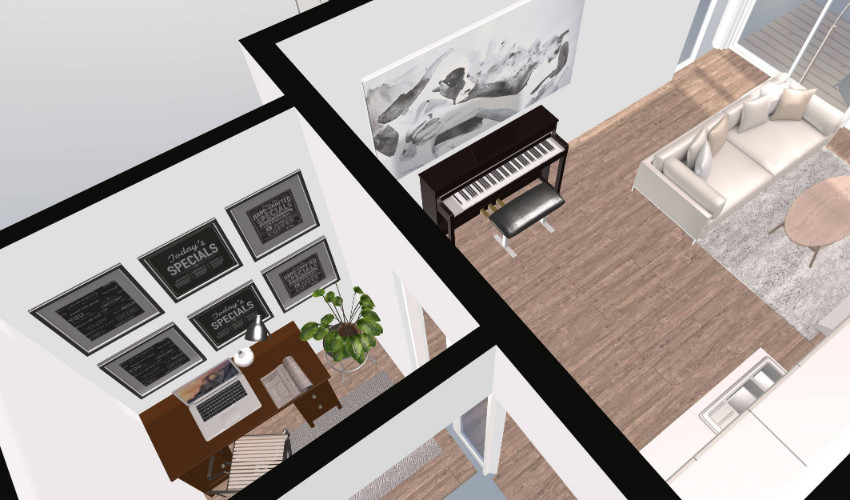 e-design by Carly Heung of 1 Small Space - QC Design School student
