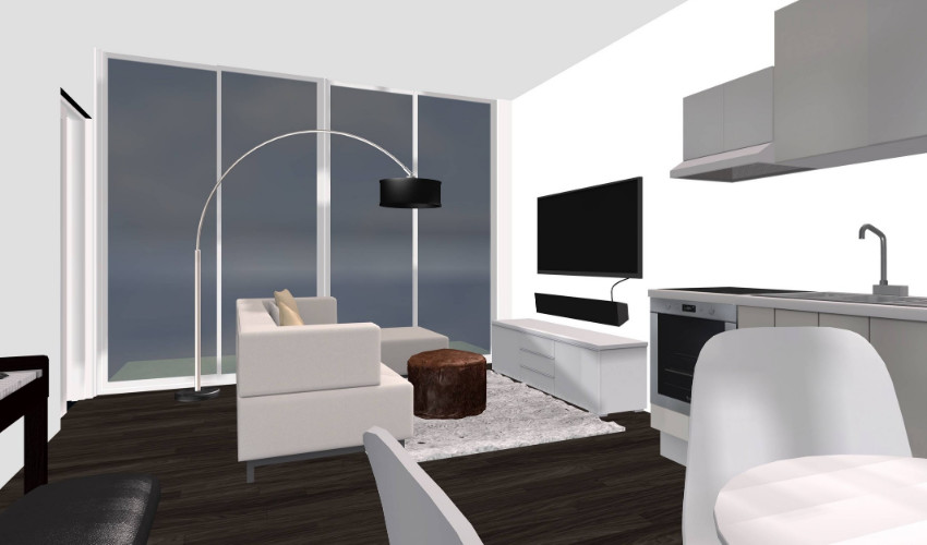 living room 3D model by Carly Heung interior decorating e Design services