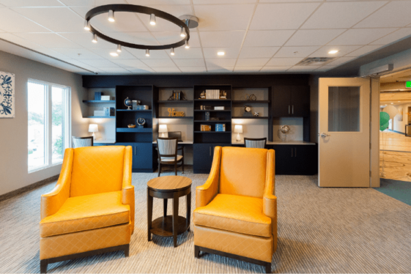 Common Rooms Aquatria Retirement Residence - Staging and Design by QC Design School graduate Chantal Marion