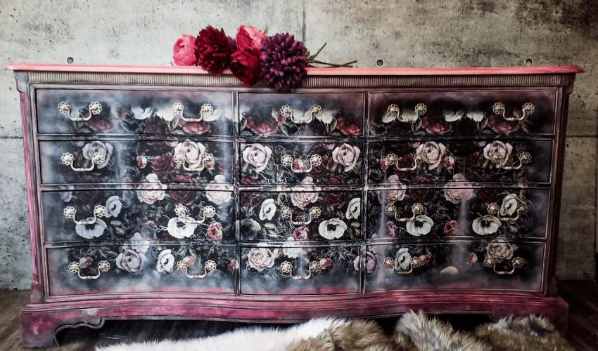 erin rochon - custom painted/designed dresser