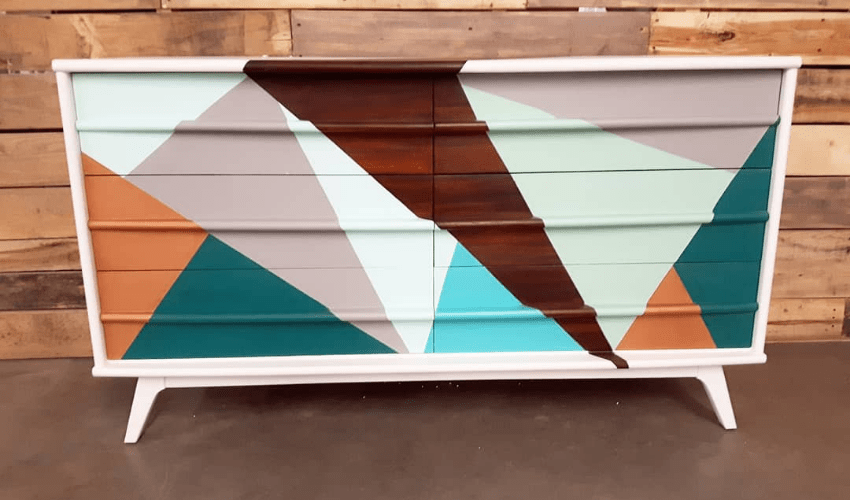 erin rochon - funky customized painted dresser