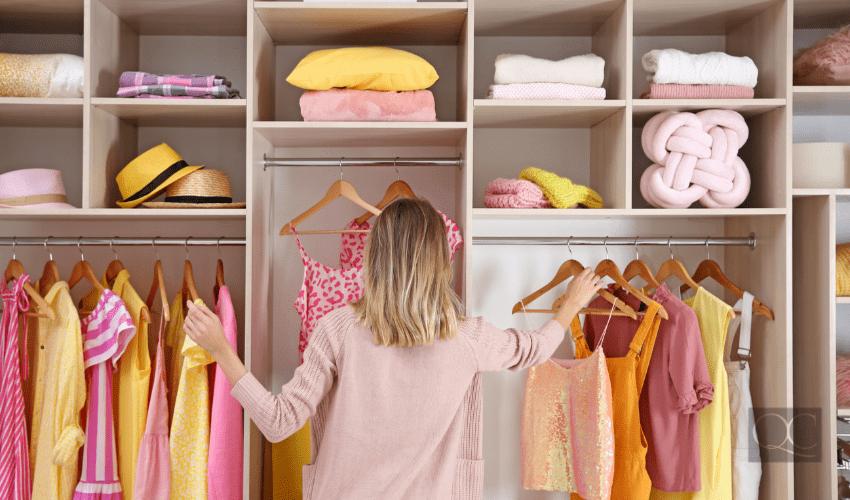 pro organizer in closet