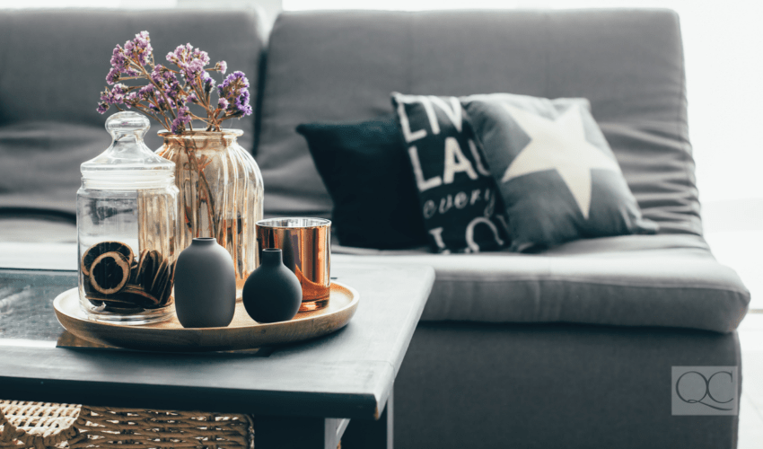 room and coffee table decor