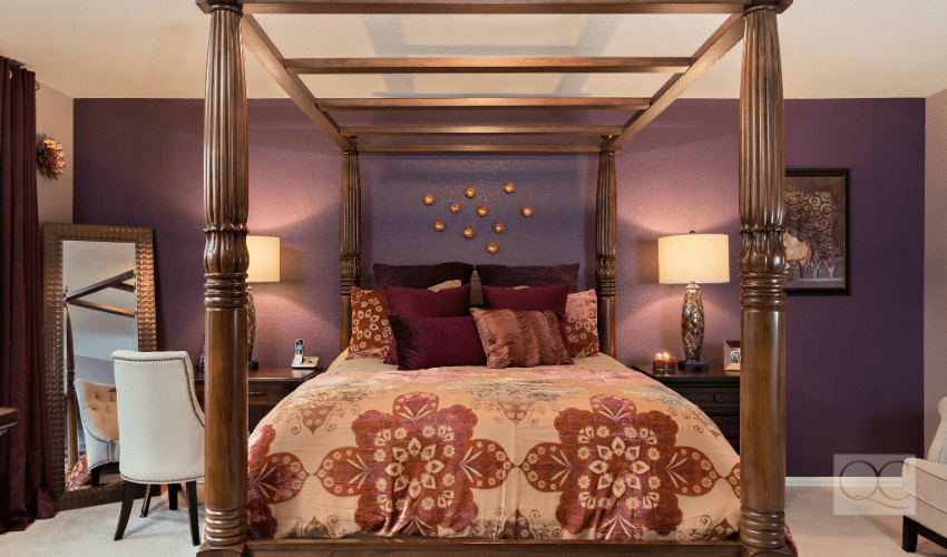 san antonio texas client - master bedroom decorating