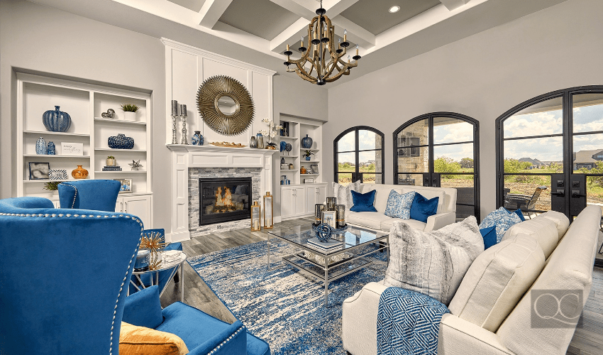 Fort Worth Texas living room interior decorating