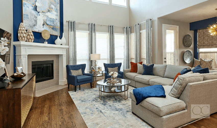 McKinney Texas living room interior decorating