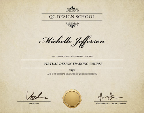 Virtual Design Certificate