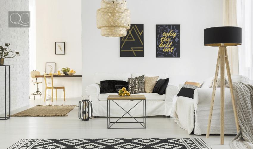 modern living room after arranged by interior designer