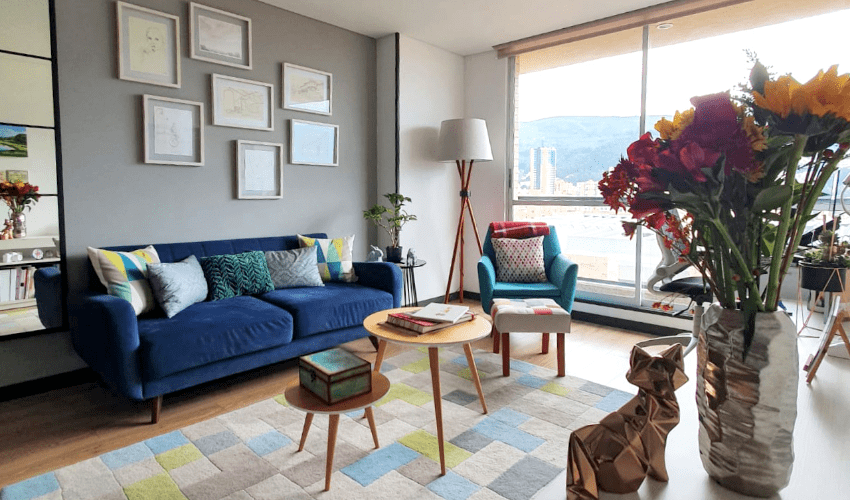 Living room decorated by Feng Shui expert, Maria Olaya