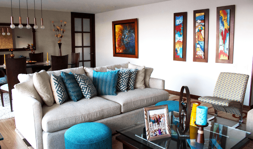Living room put together by Feng Shui professional, Maria Olaya