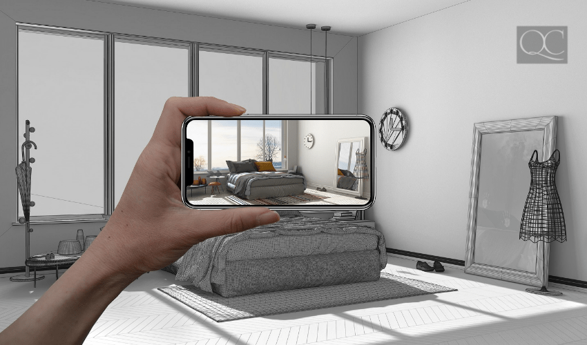 3D concept of virtual design service