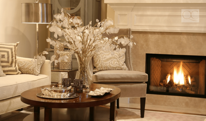 Formal design style in living room