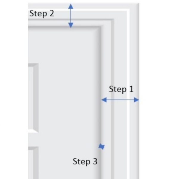 How to become an interior decorator, illustration for measuring trim, source door image from Vecteezy.com