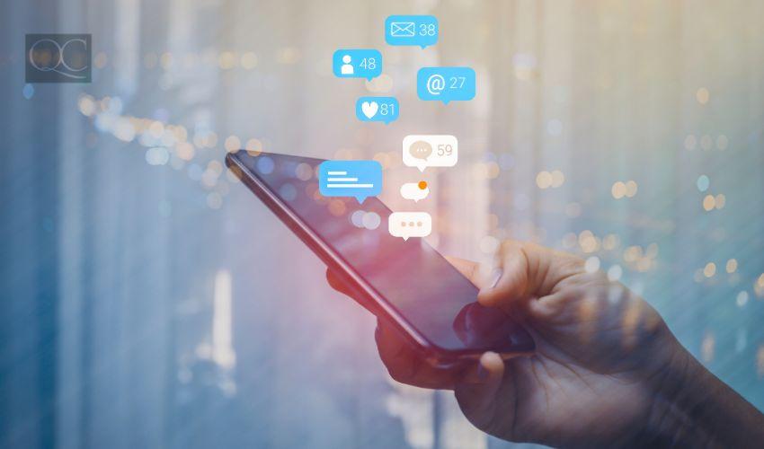 Social media networking concept