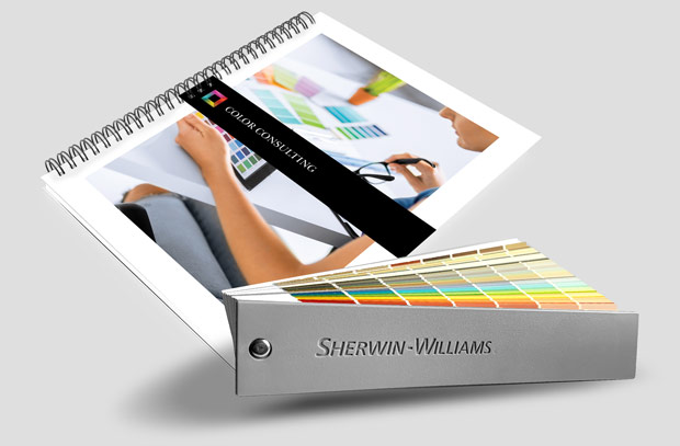Color Consulting Course spiral manual with bonus Shermin Williams color fan deck
