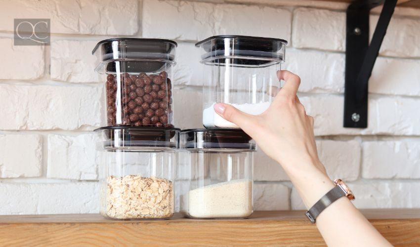 Professional organizer salary article, Aug 19 2021, in-post image 3, Storage cereals and sugar at home, arranging space in the kitchen